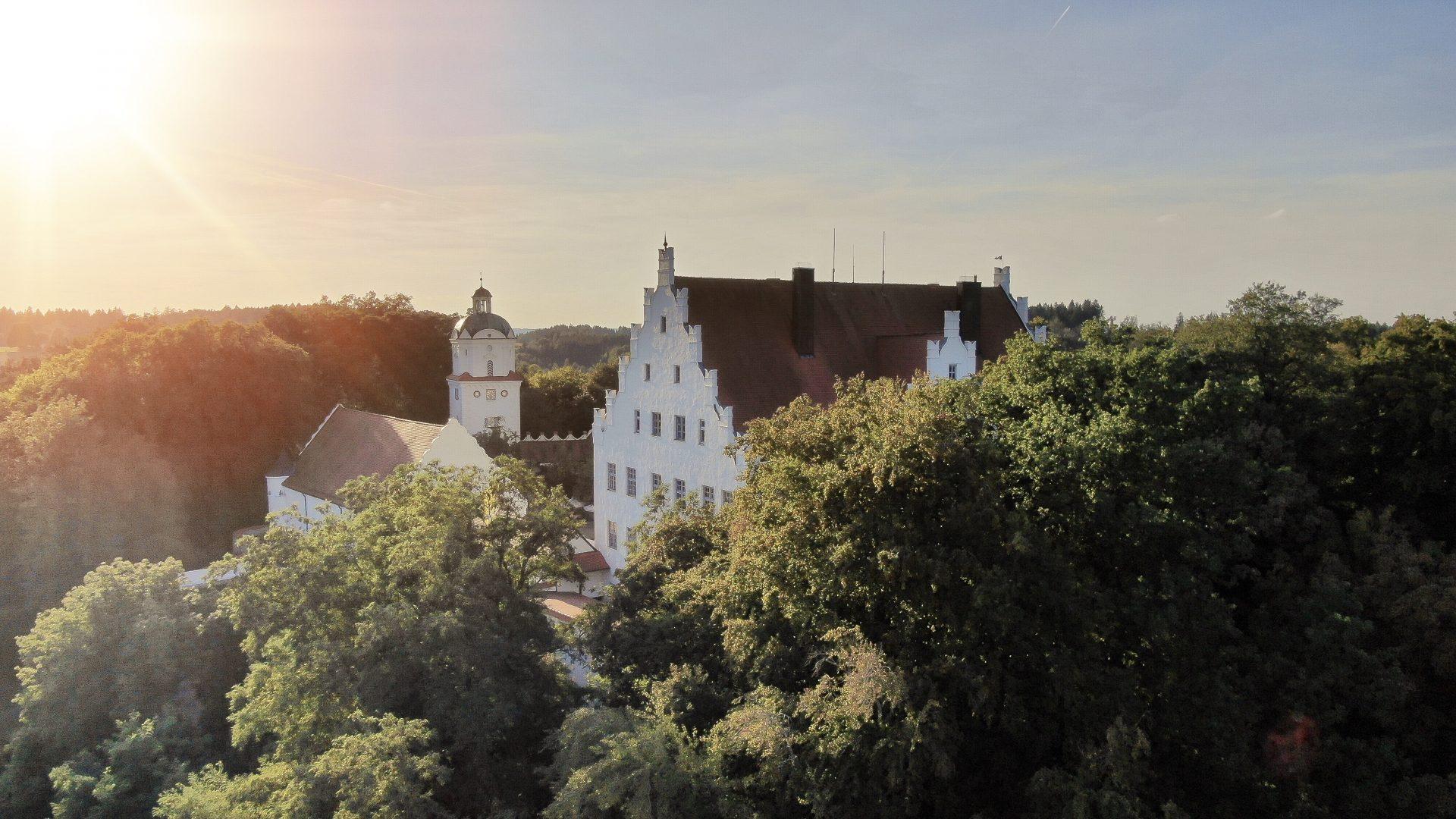 Schloss Neuburg - Luftaufnahme, Drohne